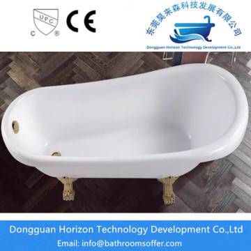 Clawfoot bathing tub for bathroom corner  tubs