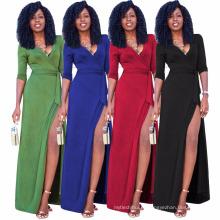 Moda verão mulheres novo modelo menina festa Casual noite mulheres vestidos senhoras