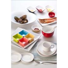 Mélamine Duotone Sacue Plat / Plat à condiments / Plat coloré (cc10209)