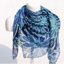 Women′s Bamboo Printing Spring Autumn Summer Woven Beach Cover Shawl Snood Loop Square Scarf (SW132)