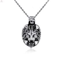 Colgantes personalizados baratos, cabeza de león colgante para hombres