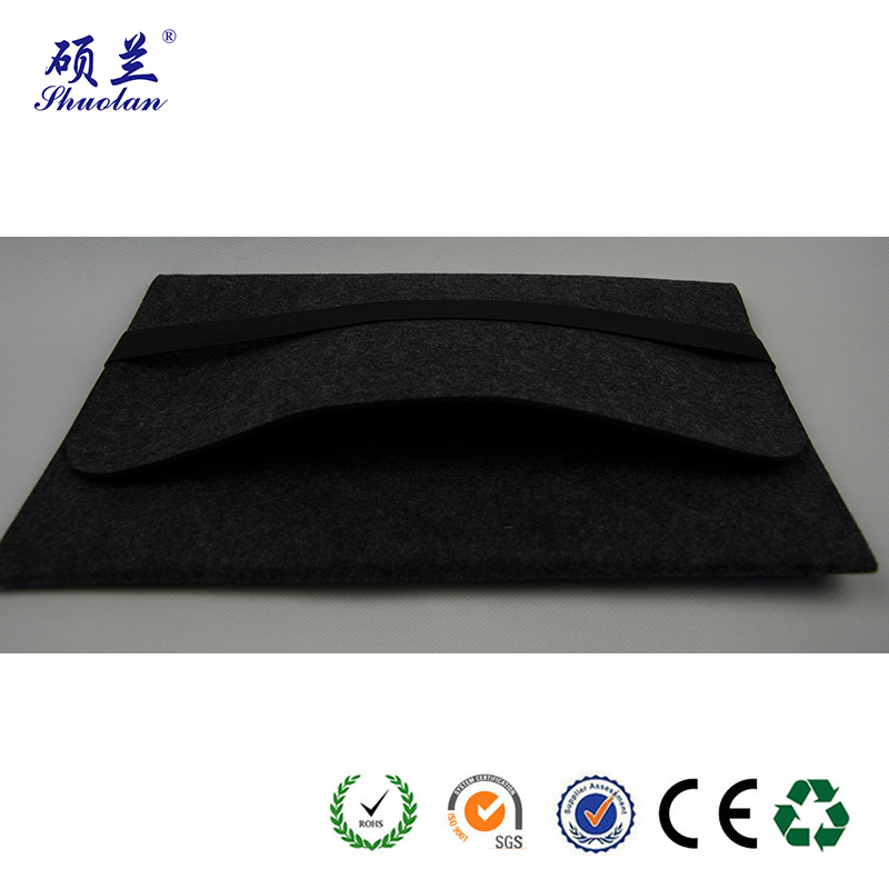 Black Felt File Bag