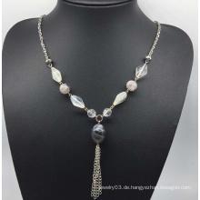 Bunte Perlen Perlen Pullover Halskette (XJW13756)