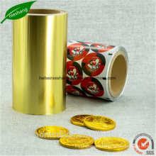 Christmas Foil Wrapping Paper Color Printed Chocolate Aluminum Foil Paper