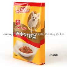 Saco de embalagem de alimentos para cães de plástico