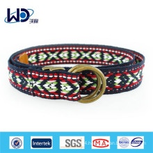 Womens ethnic double d ring canvas belts