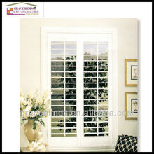 CUSTOM DESIGNED PLANTATION SHUTTERS 2.5 inch blade stain color Z frame double panel wooden shutters