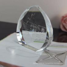 Paperweight preto de cristal o mais novo da qualidade superior do projeto para presentes relativos à promoção