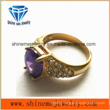 Purple CZ Small Stones Gold Fashion Jewelry Finger Ring