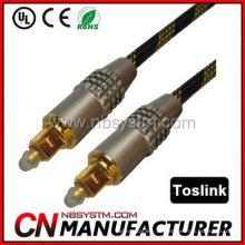 Cabo de áudio óptico digital de fibra óptica Toslink