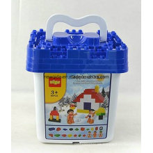 Bloques de construcción de la nieve 86PCS Snow Bucket Kids Toy
