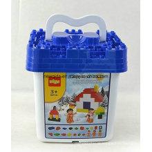 86PCS Snow Home Building Blocks Balde Crianças Brinquedo