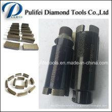 Renforcer le segment de foret de noyau de diamant d'utilisation humide de béton