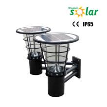 Warme helle CE Doppel-Außenleuchten solar LED-Wand für Tor Beleuchtung Licht; Wand light(JR-2602)