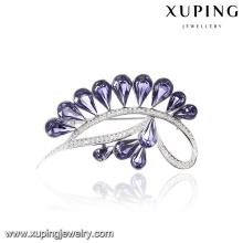 00063 Xuping 2017 canal de diseño superior broche de cristal noble corona broche cristales de Swarovski
