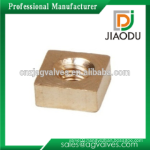 Mechanical CNC Turning Part Brass Square Nuts