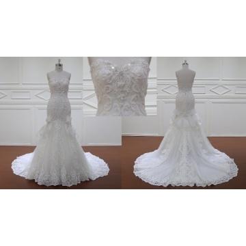 Bling apliques Vestido de Novia de la boda