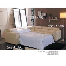 Угловой кожаный диван-кровать 574 #