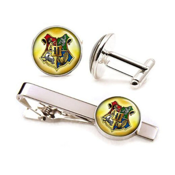 Högkvalitativ Harry Potter Silver Tone Tie Bar