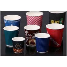 Tazas de papel coloridas personalizadas, nuevas tazas de papel impresas