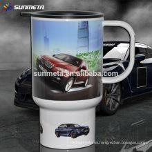 Blanco Sublimación coche taza fabricante