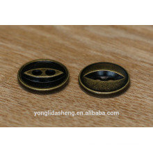 Shenzhen button Maker wholesale Antique Brass round Button for cloth