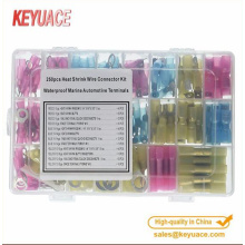 250PCS Insulated Heat Shrink butt splice Wire Connectors