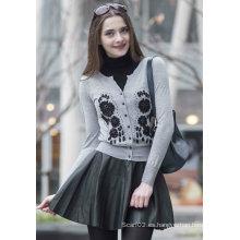 Suéter de cachemira con bordado (1500002079)