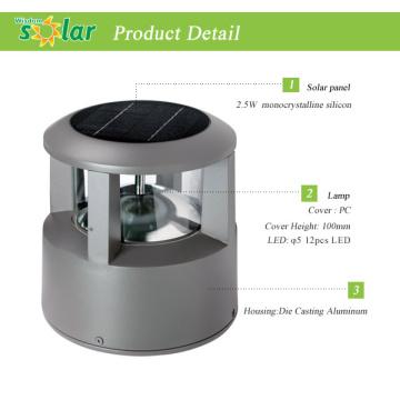 LED Solarleuchte Post leuchtet, led Solarleuchte für Zaunpfosten, solar Beleuchtung für Garten Landschaftsbeleuchtung Zaun