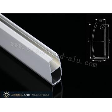 Riel inferior de persiana enrollable de aluminio con un grosor de 0,6 mm, una longitud de 40,3 mm