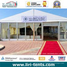 Tente de chapiteau transparente 10X21m pour 200 personnes