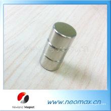Cilindro de imán de neodimio niquelado