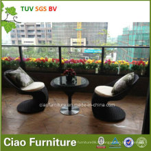Chaise utilisée extérieure de barre de meubles de jardin de rotin de PE (CF957T)