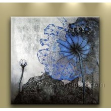 Modern Canvas Art Lotus Flower Painting for Home Decoration (Fl1-007)