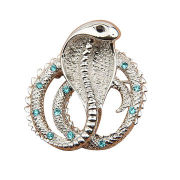 Newest Snake Shape Cool Unique Wholesale Alloy Metal Brooch, OEM/ODM/Small Orders are Welcome