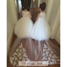 Высокое Качество Паффи Цветочница Платья Свадебные Платья 2017 Бесплатно Фабрика Каппа