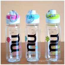 Space water bottle out door sports bottle clear plastic drinking water bottle