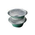 Caixa de almoço redonda da bandeja da folha do recipiente de alumínio