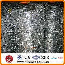 Alambre de púas revestido de zinc / alambre de zinc matal de seguridad