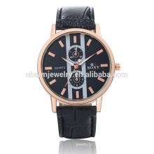 Speziell entworfene Luxus-Vogue-Quarz-populäre lederne Armbanduhr SOXY047