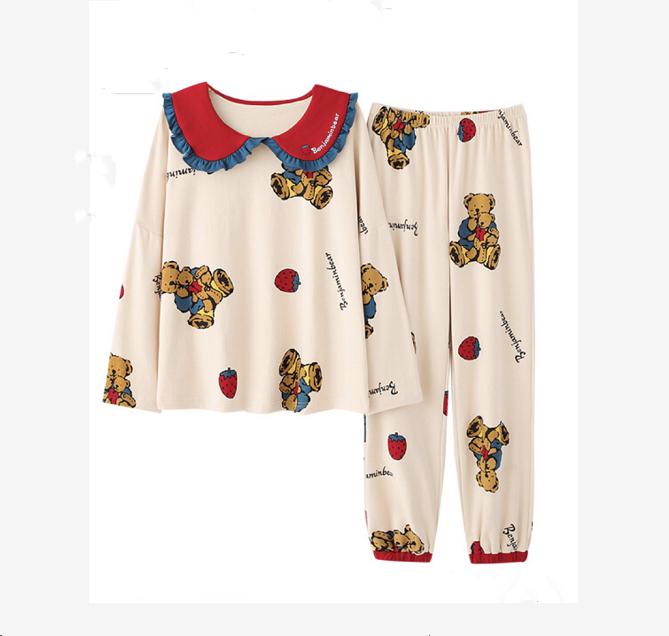 Womens Cotton Nightwear Pajamas Set