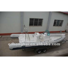 Top rib730 hypalon or pvc inflatable boat