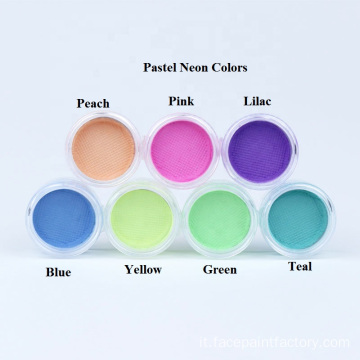 Neon Pastel Color Face eye painting