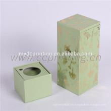 Caja de paquete de botellas de perfume de botellas de cartón para cosméticos