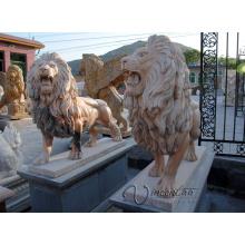 Popular 2018 hot vender escultura em pedra chinesa grande estátua do leão de pedra