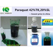 China niedrigster Preis / Agrochemischer Herbizid Paraquat (Gramoxon) 200g / L, 276g / L, 20%, 27,6% SL ,, CAS: 4685-14-7 -lq