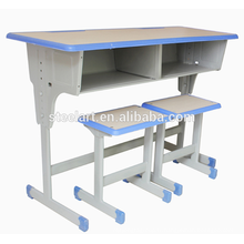 Pas cher prix usine école meubles double siège étudiant bureau et chaise à vendre