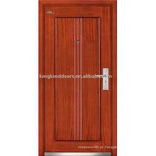 Aço porta blindada (JKD-222) porta de segurança forte e alto desempenho