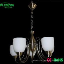 Lustre en verre blanc de style européen Luminaires pendentifs