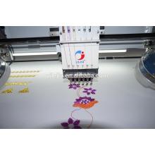 Machine de broderie informatisée plate à plusieurs têtes, strass + fil épais
